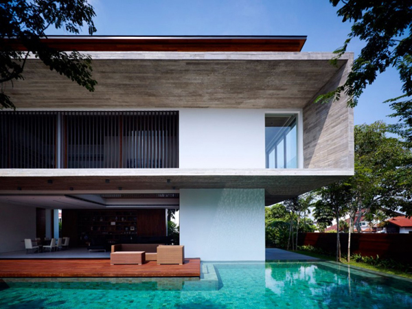 10 Modern Houses With Integrated Pools