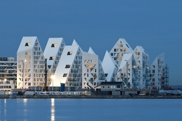 Spectacular Building That Looks Like A Giant Iceberg - spectacular, iceberg, denmark, building, apartments, amazing