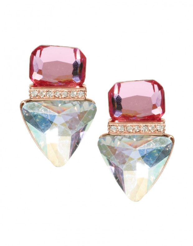 Jewelled-Triangle-Stud-Earrings