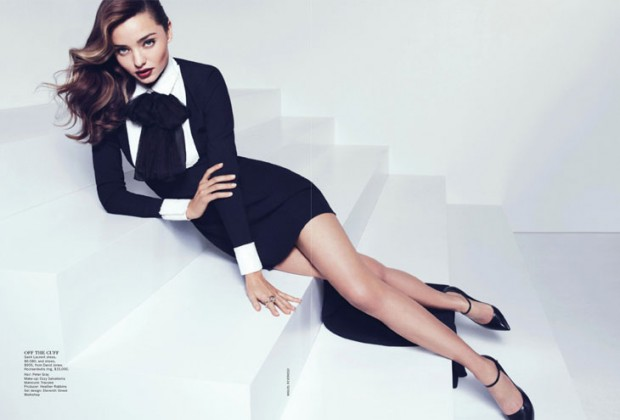 Miranda Kerr poses for Vogue