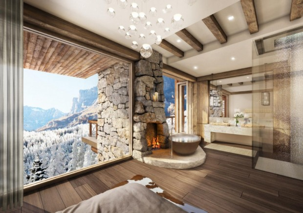 resort property in leukerbad, switzerlandmarc-michael interior