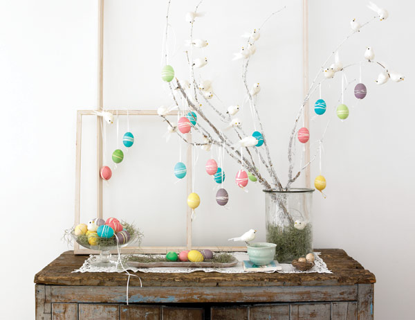 Easter home decoration style motivation for Diy easter decorations home