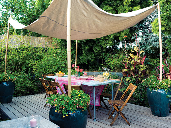 How To Decorate Outdoors On Budget - home, garden, furniture, create, canopy, budget, bed