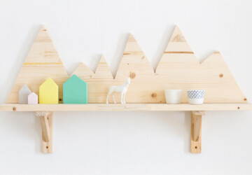 DIY Mountain Wall -