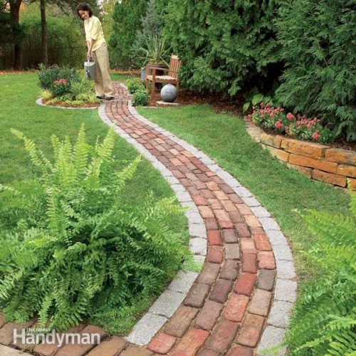 20 garden path ideas style motivation for Garden path designs