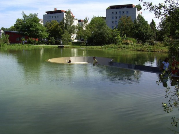 Platform In The Middle Of A Lake