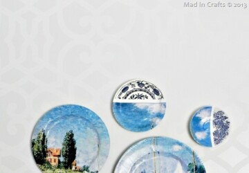 Anthropologie-Inspired Collage Art Plates -