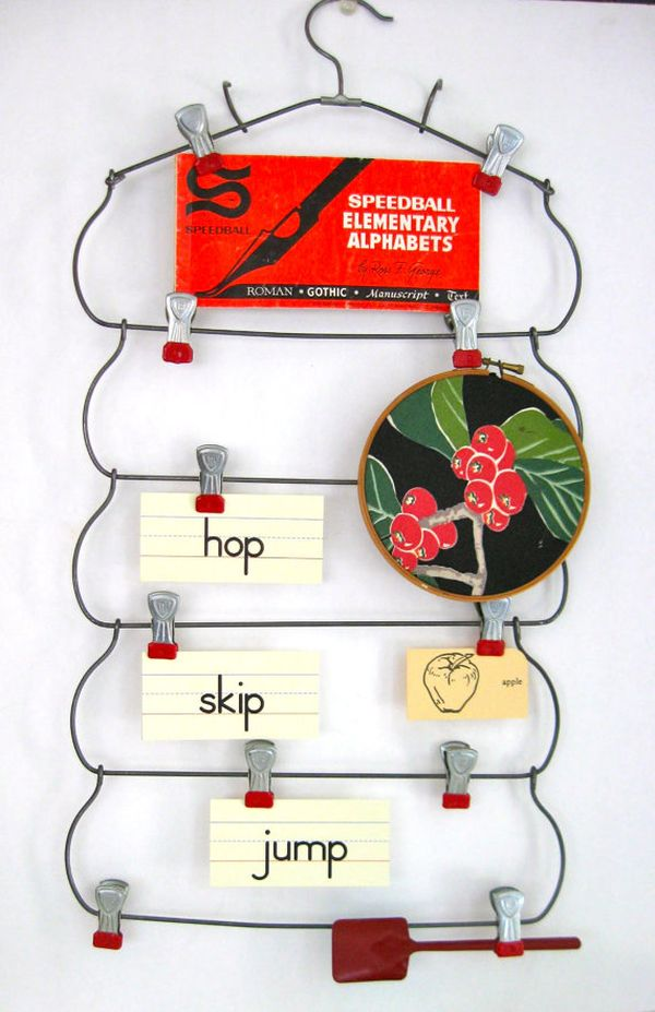 22 DIY Projects with Repurposed Hangers