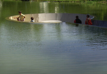 Platform In The Middle Of A Lake -
