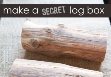 Make a Secret Log Box -