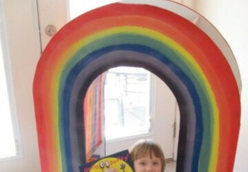 Amazing DIY Rainbow Bookcase For Your Kids - storage for kids books, rainbow bookcase for reading nook, kids reading nooks, kids rainbow bookcase, kids furniture, diy rainbow bookcase, cool idea for reading nook