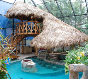 Tiki Hut – Change Your Pool into a Tropical Paradise! - tropical paradise, pool, diy