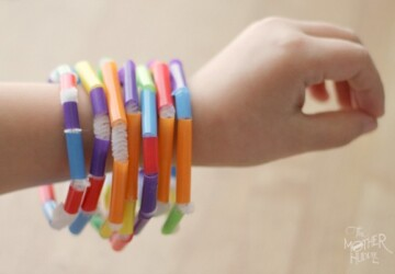 DIY Straw Beaded Bracelets -