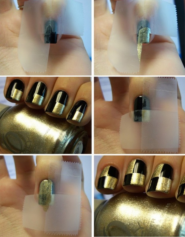 Top DIY Easy Tape Nail Designs 620 x 796 · 85 kB · jpeg