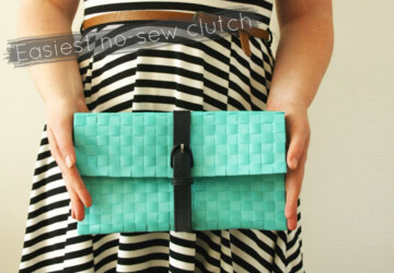 DIY – The Easiest No-Sew Clutch - diy, clutch