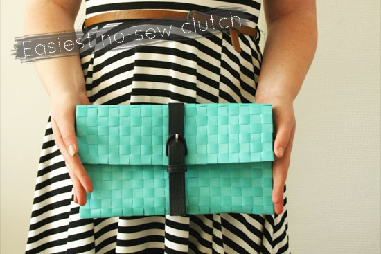 DIY – The Easiest No Sew Clutch