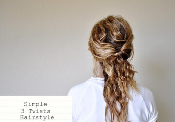 Simple 3 Twists Hairstyle -