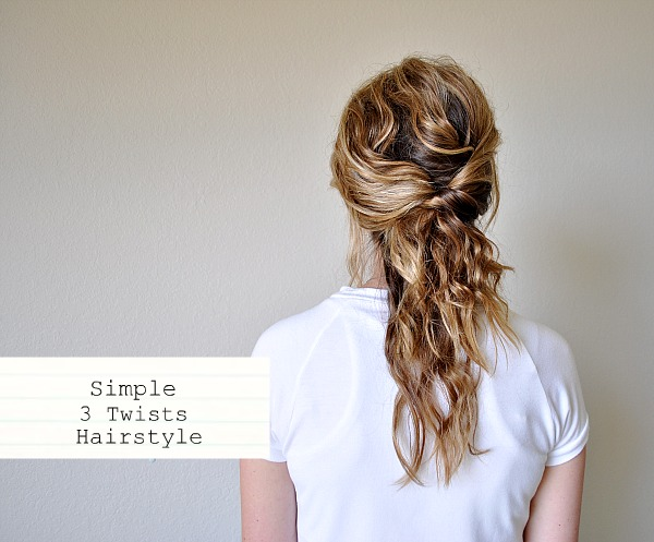 Simple 3 Twists Hairstyle