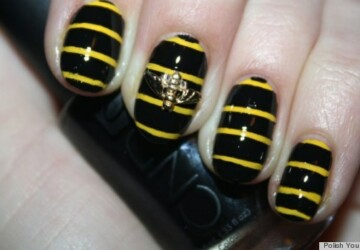 DIY Nail Art: Create A Buzz with 3D Bumblebee Manicure -