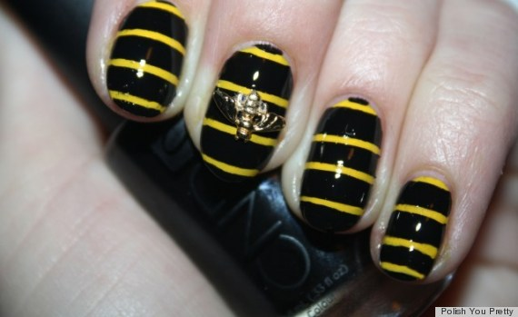 DIY Nail Art: Create A Buzz with 3D Bumblebee Manicure