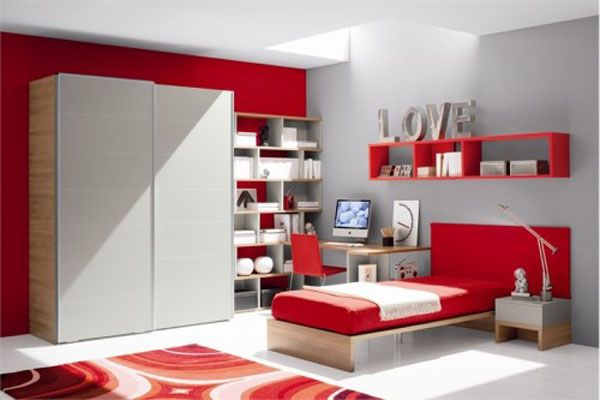 room-for-teens-girl-red-office-picture