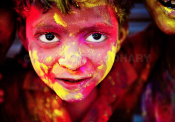 Celebrating Holi, the Hindu Festival of Colours - Poras Chaudhary, photography, Hindu Festival of Colours, festival, colors