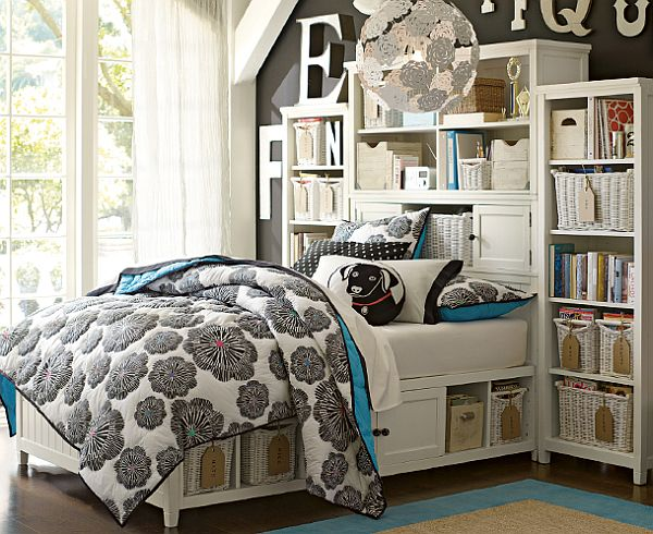 50 room design ideas for teenage girls style motivation for Simple cheap bedroom designs
