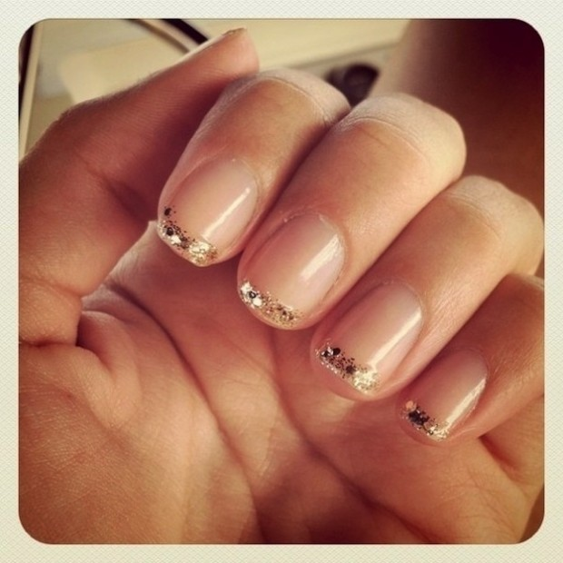 Remarkable Gold Glitter French Manicure 620 x 620 · 60 kB · jpeg