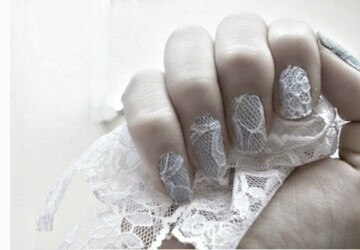 24 Delightfully Cool Ideas For Wedding Nails - weddings, nails, fashion, diy