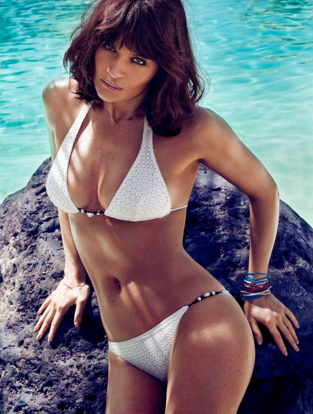 Helena Christensen by Xavi Gordo (Elle Spain May 2013)