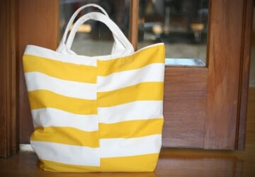 20 Colorful DIY Beach Totes -