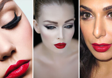 25 Glamorous Makeup Ideas with Red Lipstick - red, Makeup, lipstick