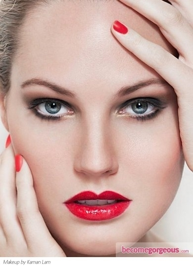 25 glamorous makeup ideas with red lipstick (13)