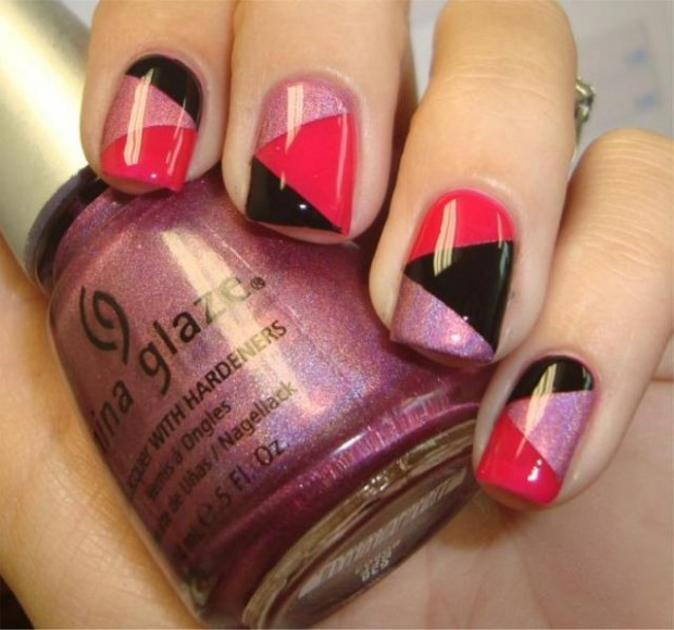 Easy Nail Art Using Tape: 32 Amazing DIY Nail Art Ideas Using Scotch Tape