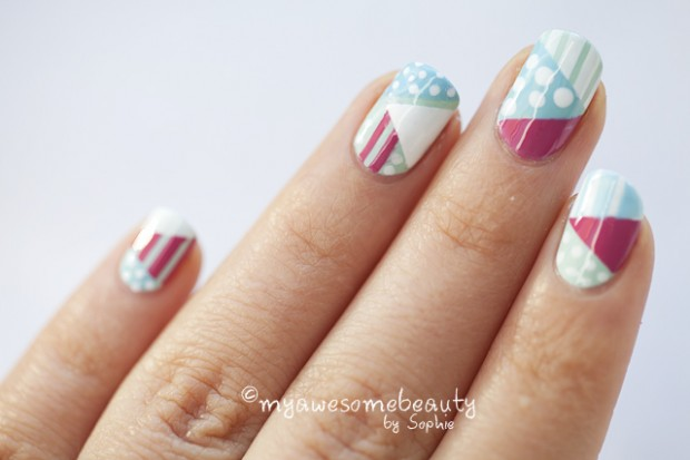 32 Amazing DIY Nail Art Ideas Using Scotch Tape - 32 Amazing DIY Nail Art Ideas Using Scotch Tape - Style Motivation