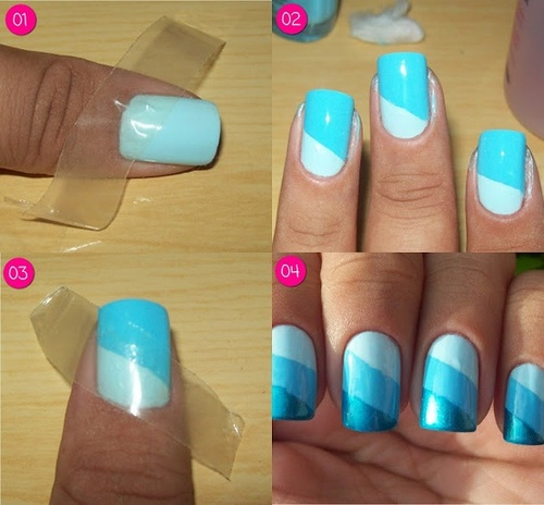 32 Amazing Diy Nail Art Ideas Using Scotch Tape Style Motivation - Diy Nail Art Ideas Using Scotch Tape - Best Nails 2018