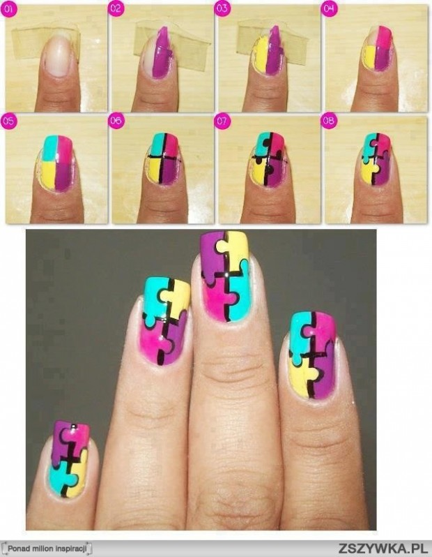 38 interesting nail art tutorials style motivation 38 interesting nail art tutorials prinsesfo Choice Image