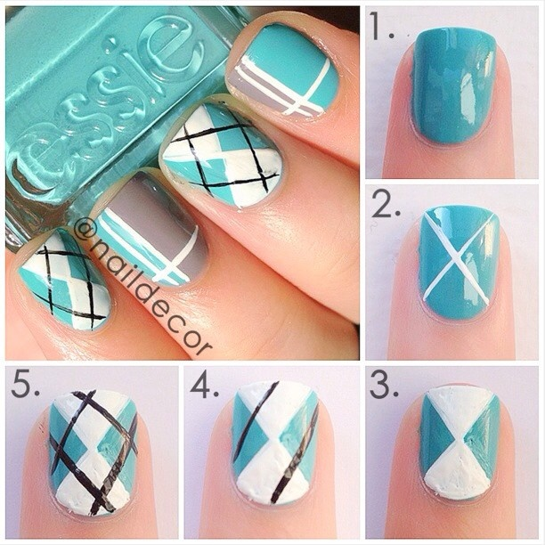 38 interesting nail art tutorials - Nail Designs Do It Yourself At Home