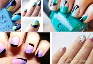 32 Amazing DIY Nail Art Ideas Using Scotch Tape - Scotch Tape, nails, diy