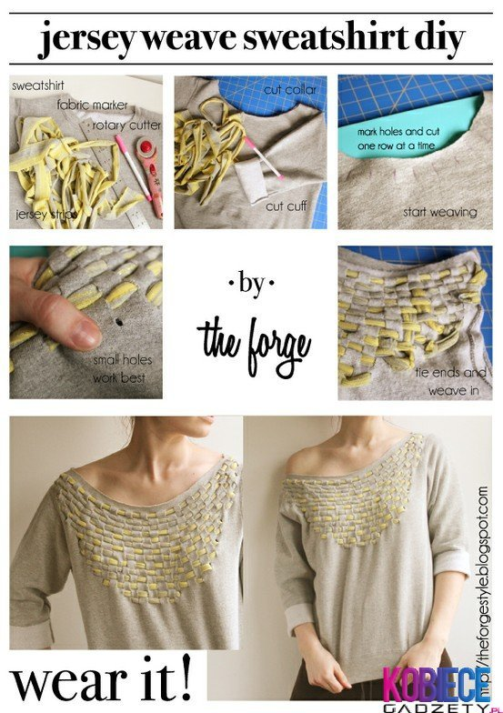 24 Stylish Diy Clothing Tutorials Style Motivation
