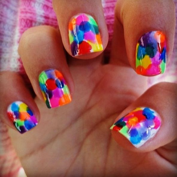 Ideas Of Nail Art: 25 Cool Colorful Nail Art Ideas