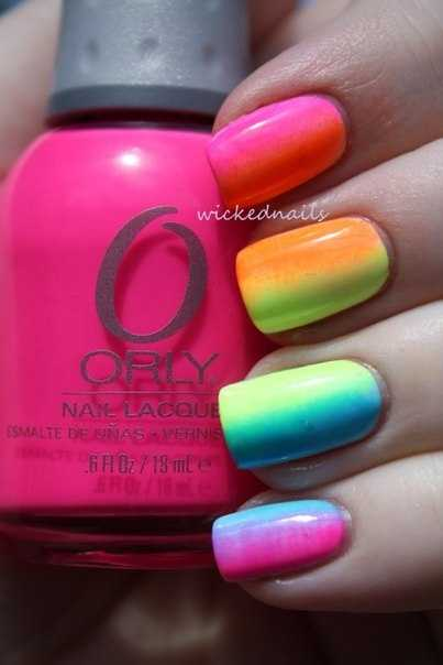 25 Cool Colorful Nail Art Ideas (16)