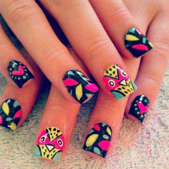 25 Cool Colorful Nail Art Ideas (17)