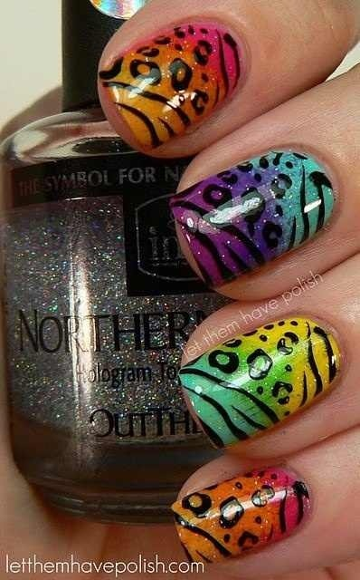 25 Cool Colorful Nail Art Ideas