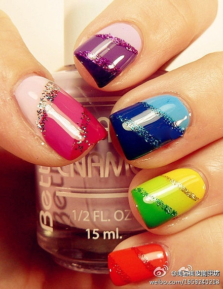 25 Cool Colorful Nail Art Ideas (23)