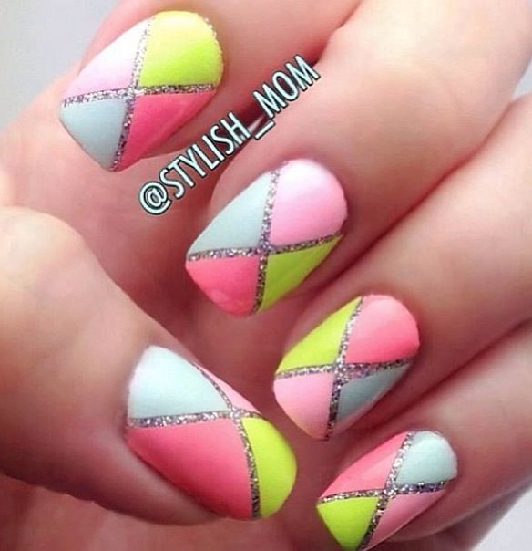 25 Cool Colorful Nail Art Ideas - 25 Cool Colorful Nail Art Ideas - Style Motivation