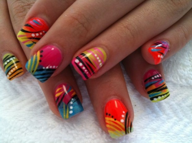 25 Cool Colorful Nail Art Ideas (6)