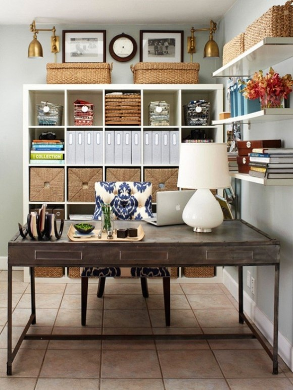 25 great home office decor ideas style motivation for Decorating office ideas