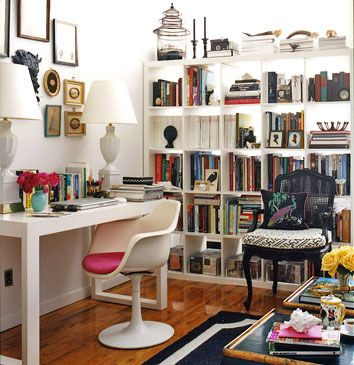 25 great home office decor ideas style motivation for Home office makeover ideas