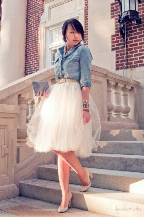 30 Outfit Ideas with Lace and Tulle for Romantic Look (20)